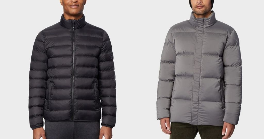 men wearing 32 Degrees Men's Down Jackets