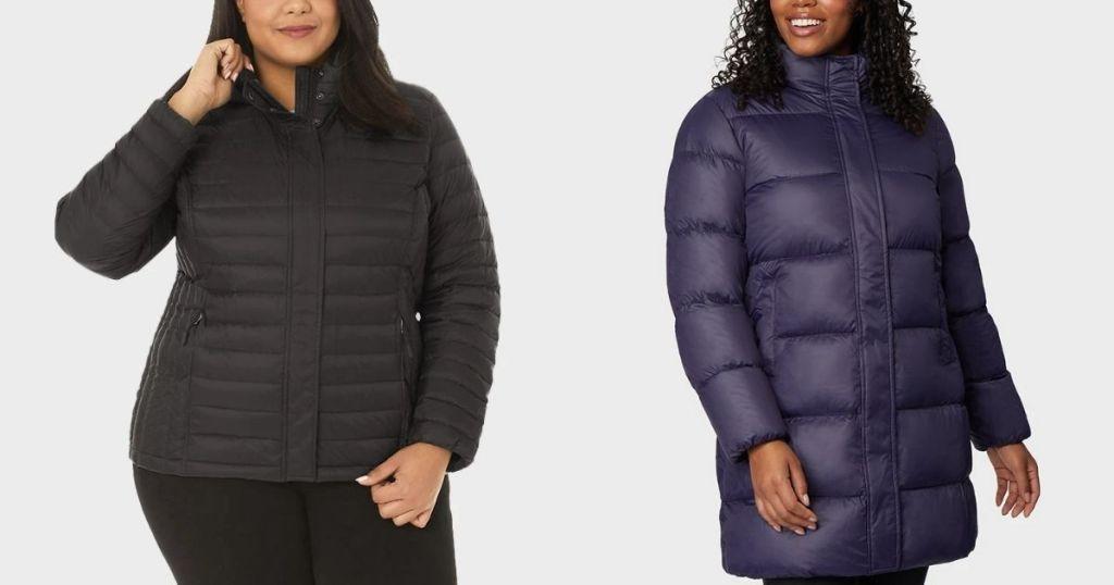 ladies wearing 32 Degrees Women's Down Jackets