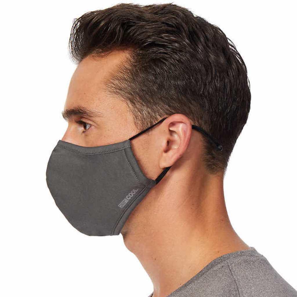man wearing grey 32 degrees adjustable mask