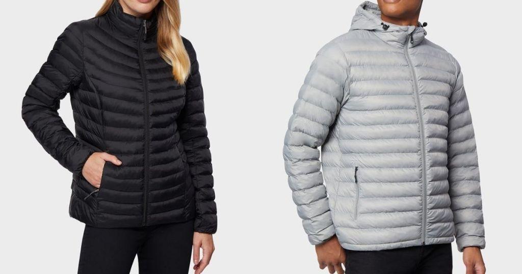 two people wearing jackets