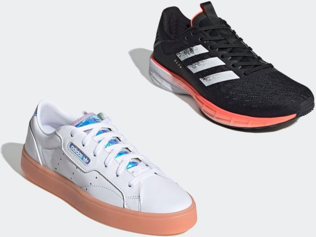 Two Adidas Adult Sneakers