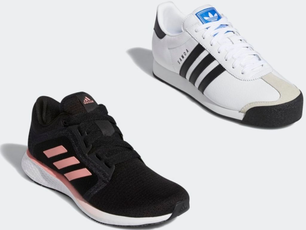 Two Adult Adidas Sneakers
