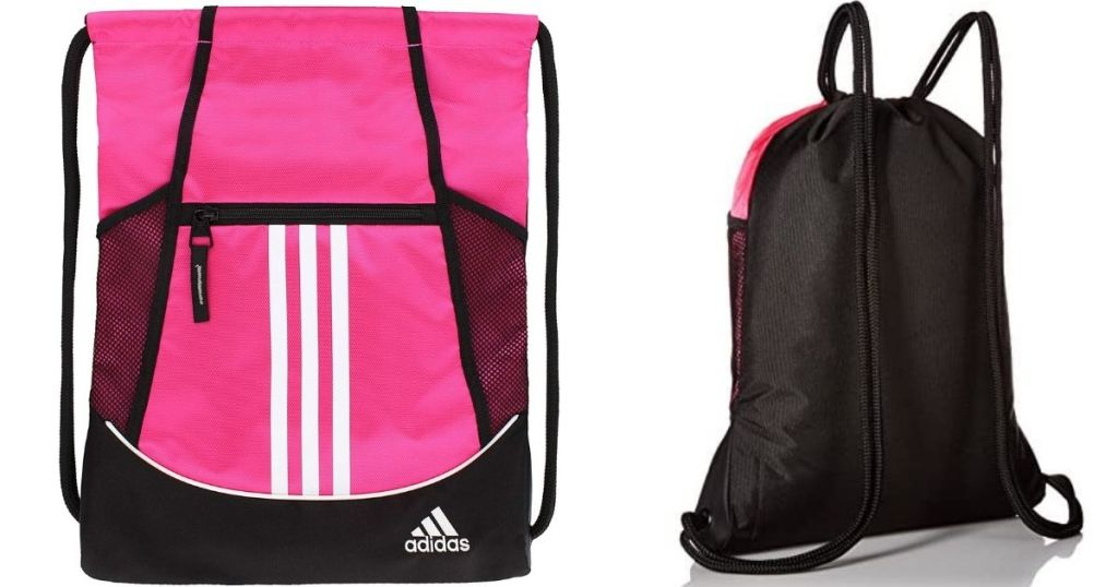 front and back of an adidas bag