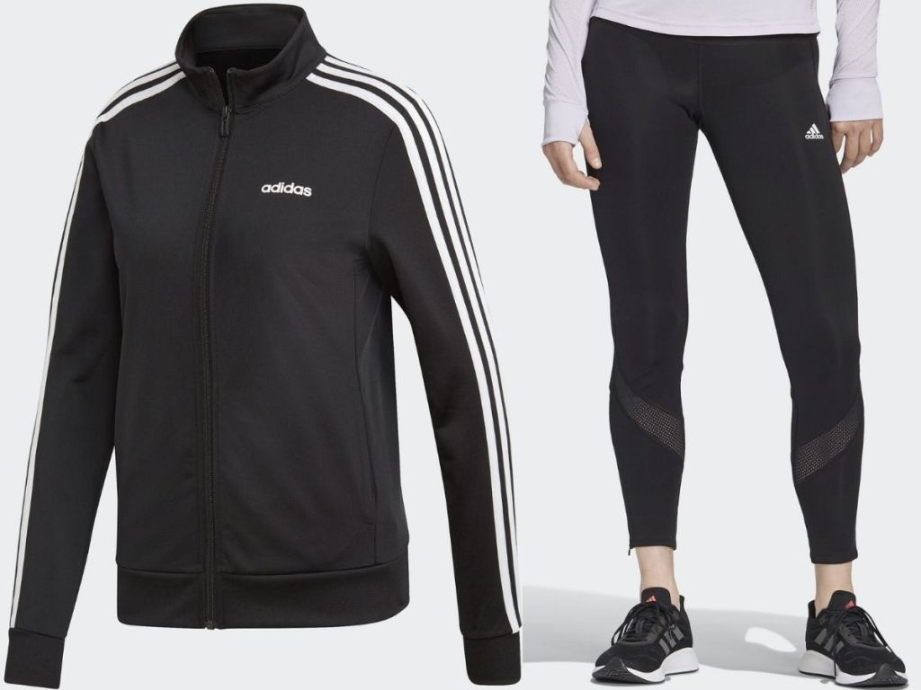 Adidas women's track jacket and leggings