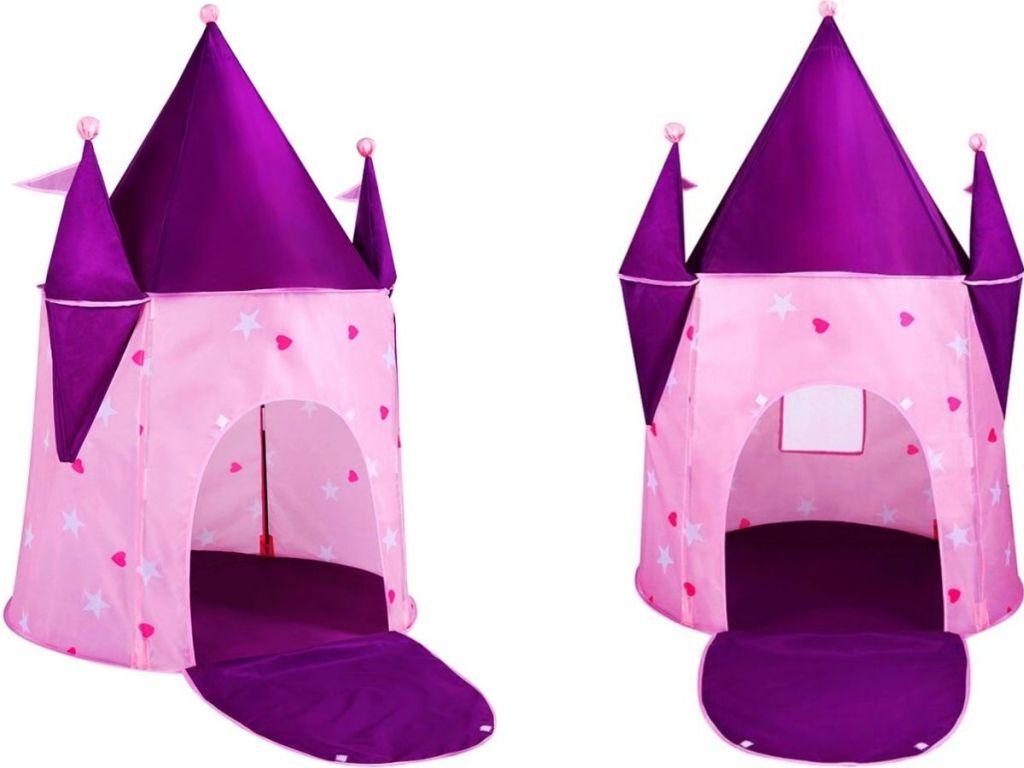 Kids play tent shaped like a castle