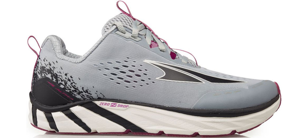 grey and white women's sneaker