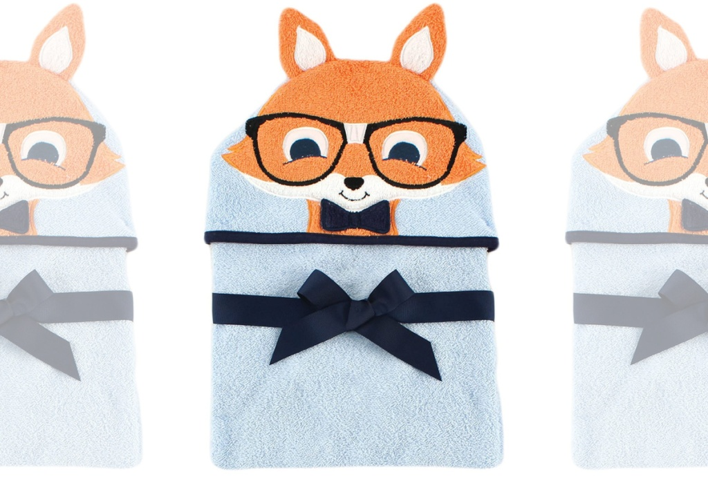 Kids animal themed hooded towel