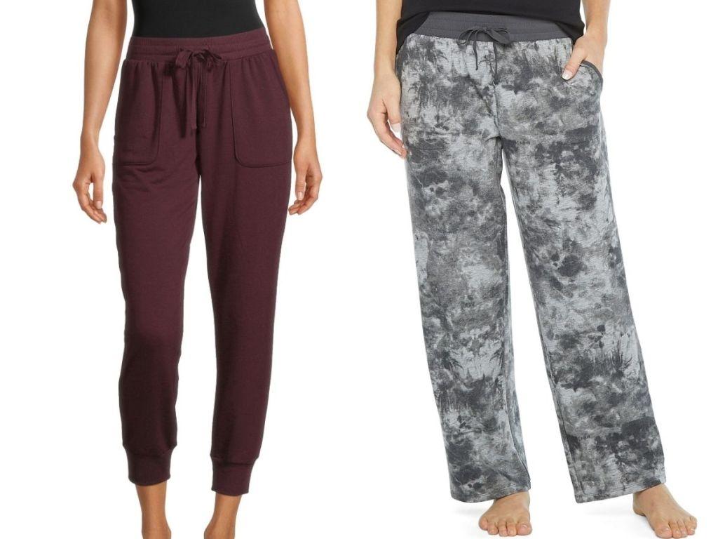 2 ladies wearing Ambrielle Women's Sleep Pants