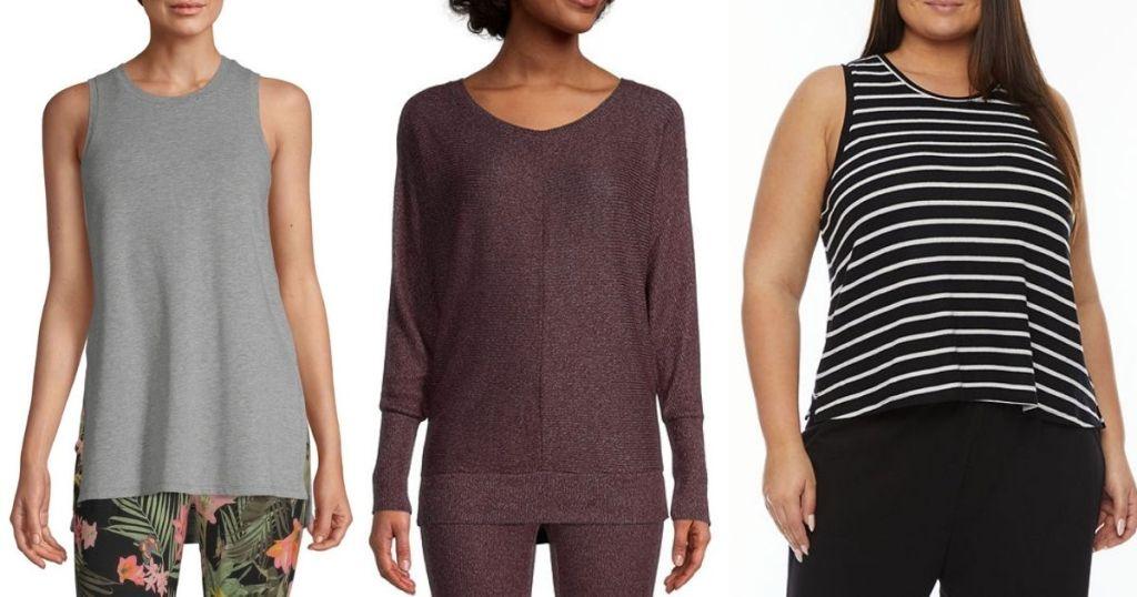 3 ladies wearing Ambrielle Women's Sleepwear Separates