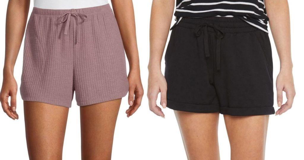 2 ladies wearing Ambrielle Women's Sleepwear Shorts