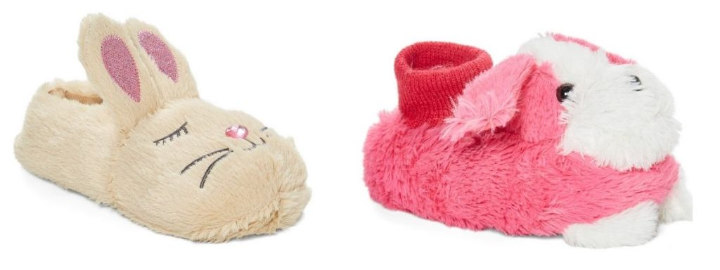 Ameta Fuzzy Slippers in bunny and puppy