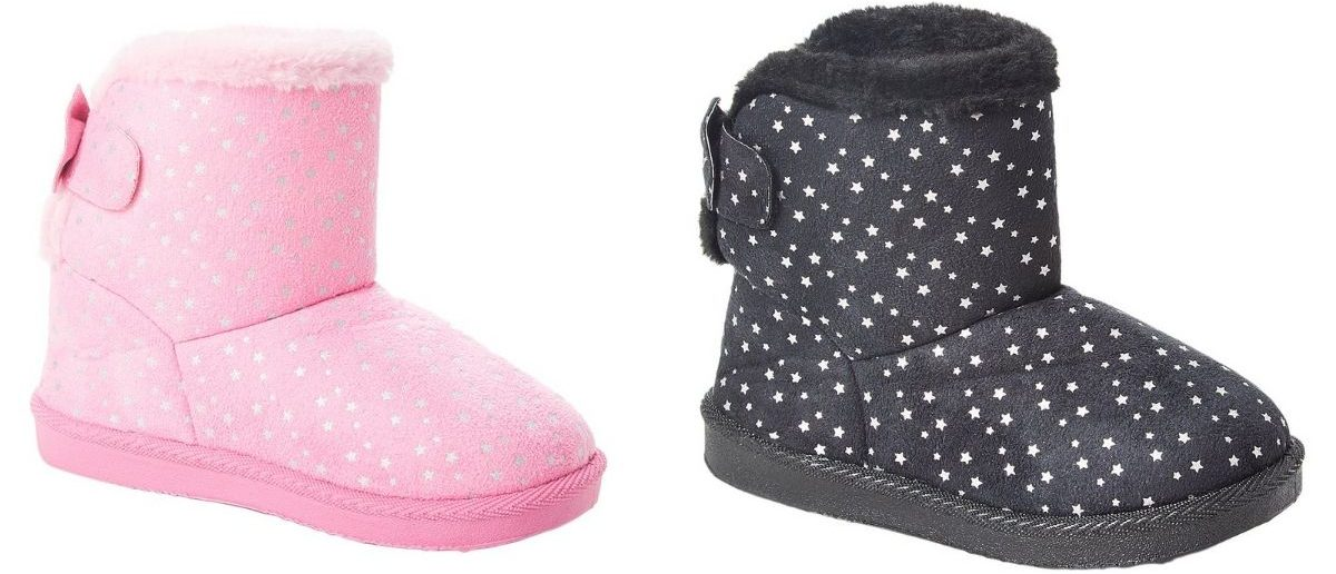 Ameta Girls Stars Boots in pink and black