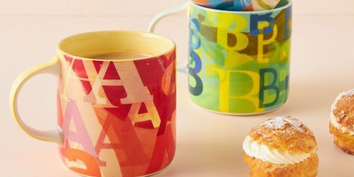 Anthropologie Monogram Mugs Only $4.98 Shipped + Extra 50% Off Even More Sale Items