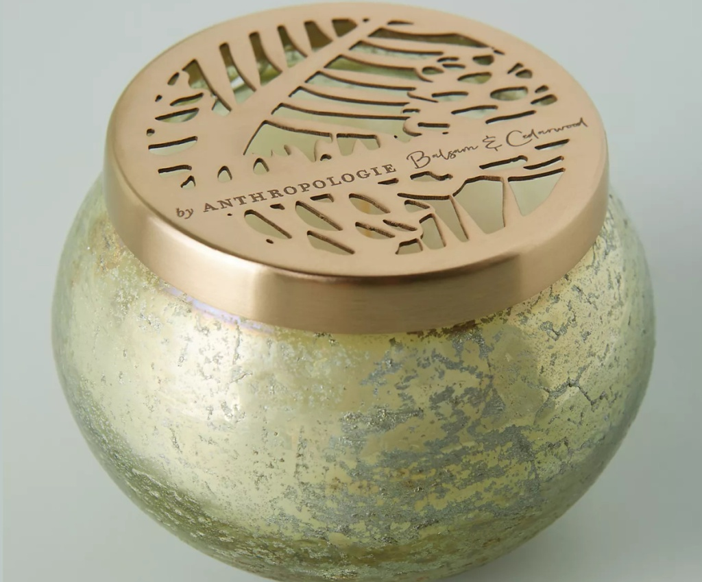 Anthropologie Candle on gray surface