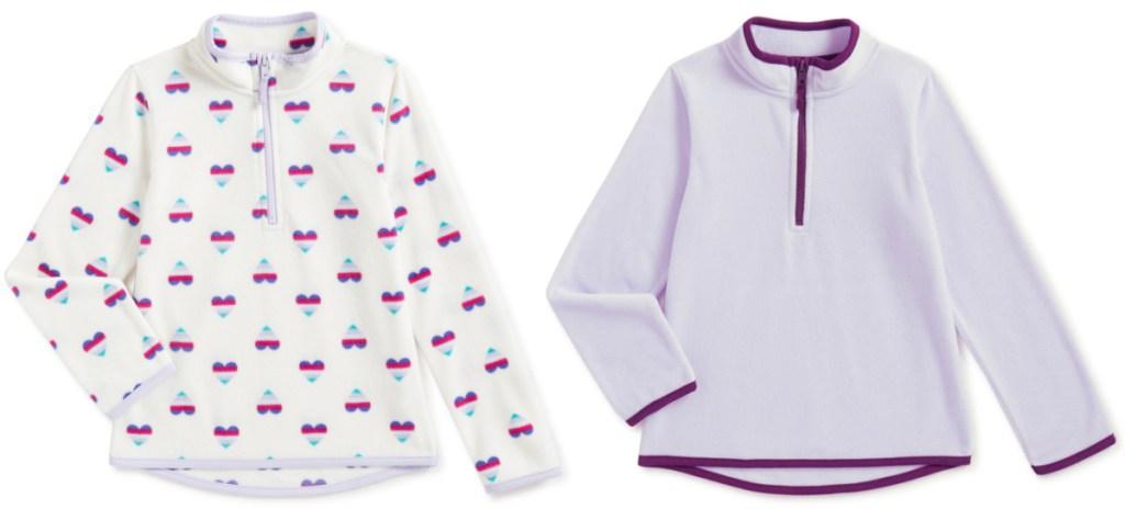 Athletic Works Girls 1/4 Zip Micro Polar Fleece Pullover