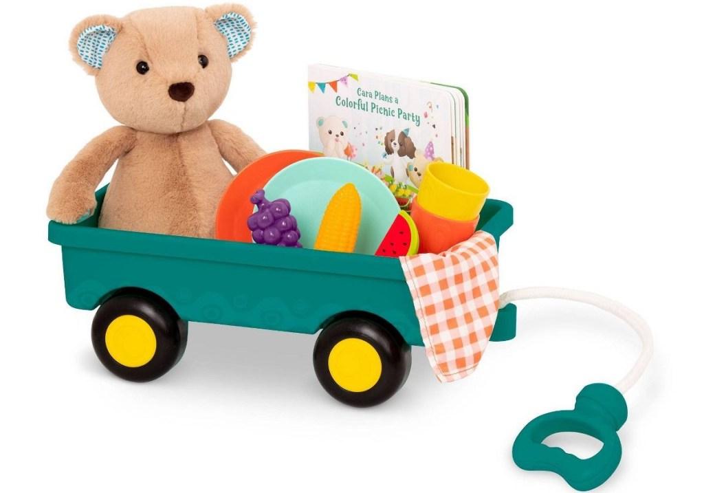 B Toys Bear in a wagon