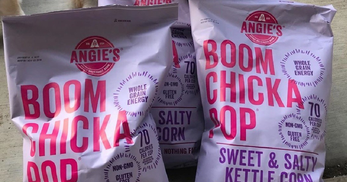 Several bags of BOOMCHICKAPOP