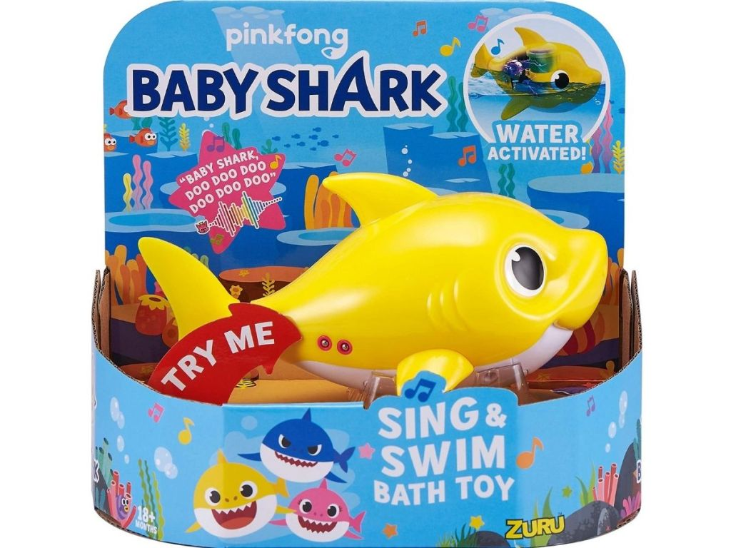 Baby Shark Bath Toy in packaging