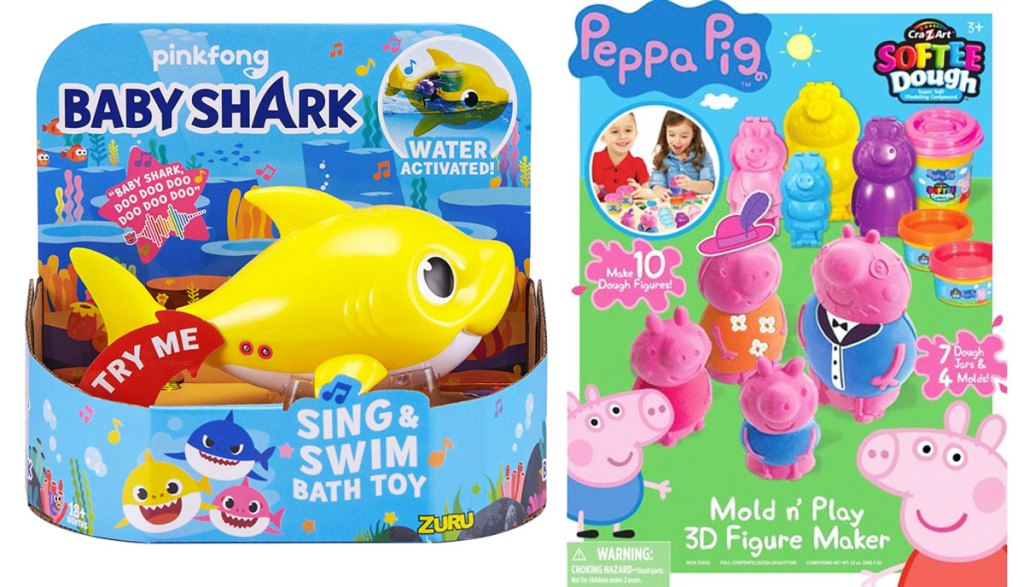 baby shark and peppa pig toys