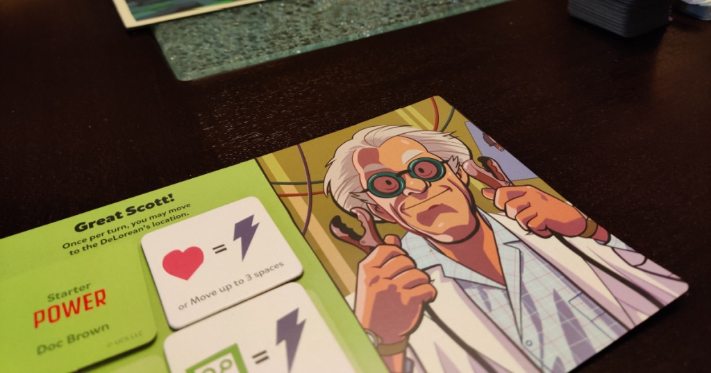 back to the future playing card