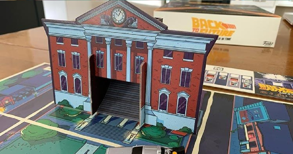 pop up clock tower from back to the future board game