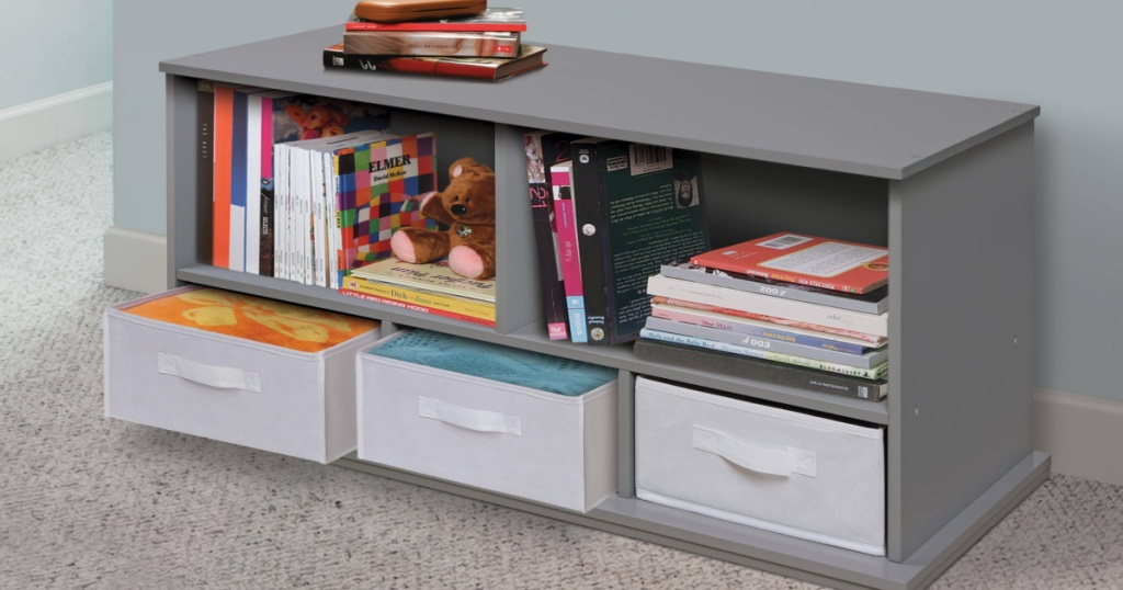 Badger Basket Shelf Storage Cubby with toys and books