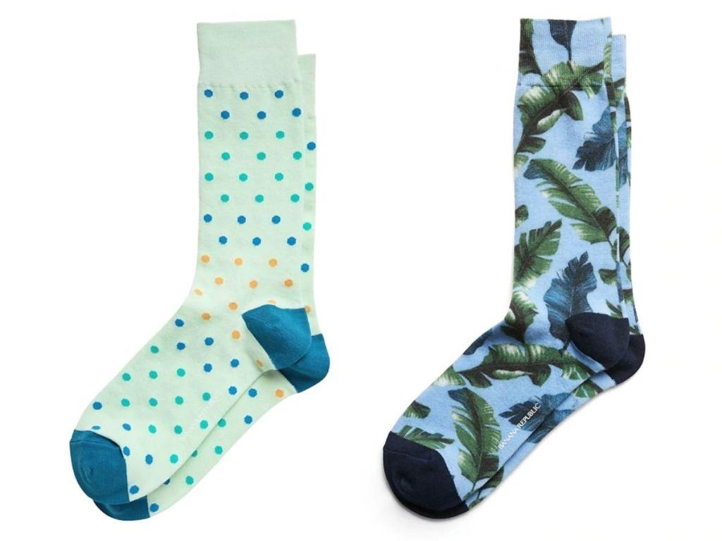 Banana Republic Men's Socks in dots and floral
