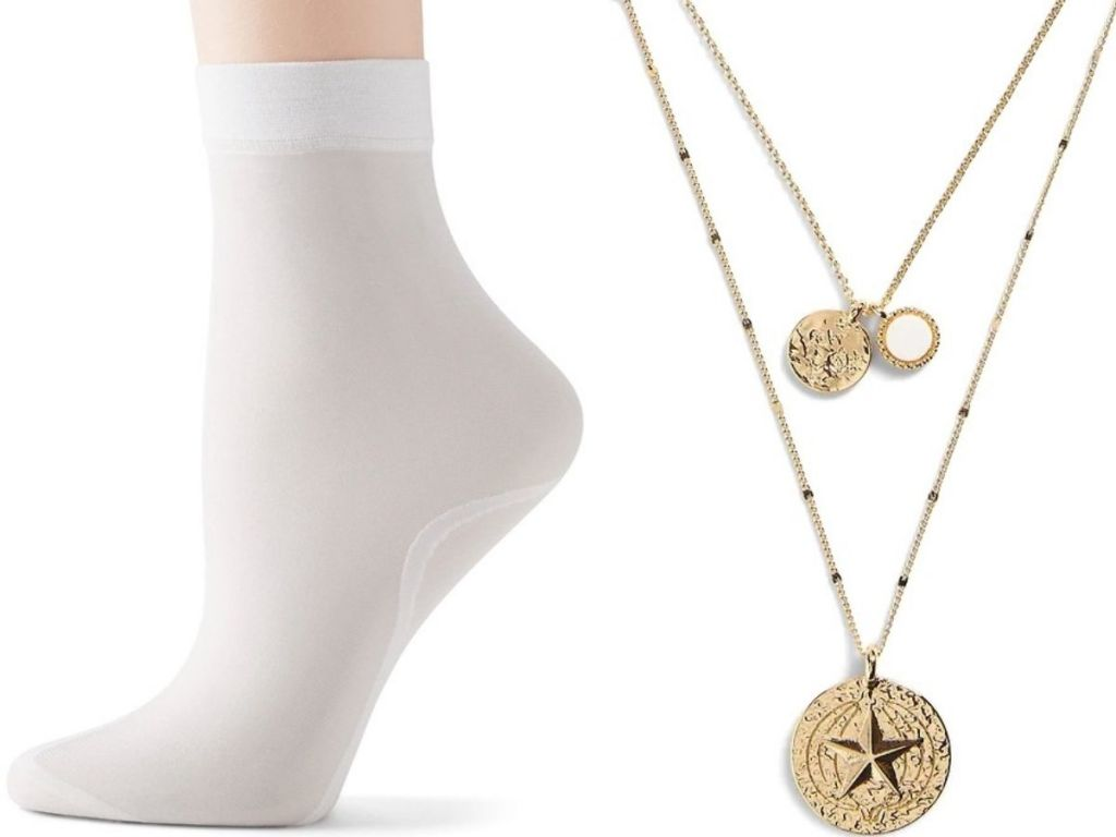 Banana Republic Women's Socks and Necklace