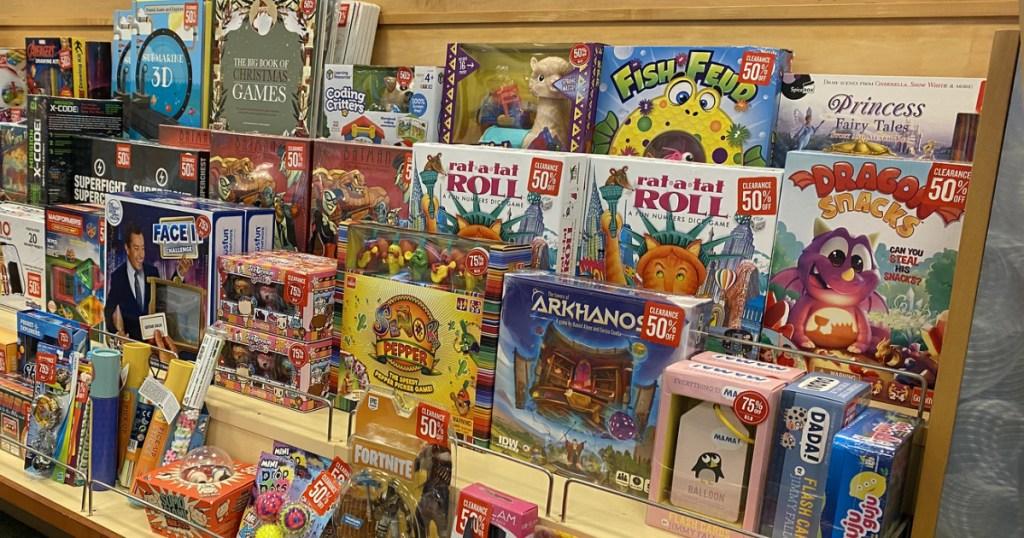 Barnes Noble Clearance shelves
