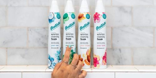 Batiste Waterless Cleansing Foam Only $3.80 Shipped on Amazon (Regularly $8)   No Residue Dry Shampoo Alternative