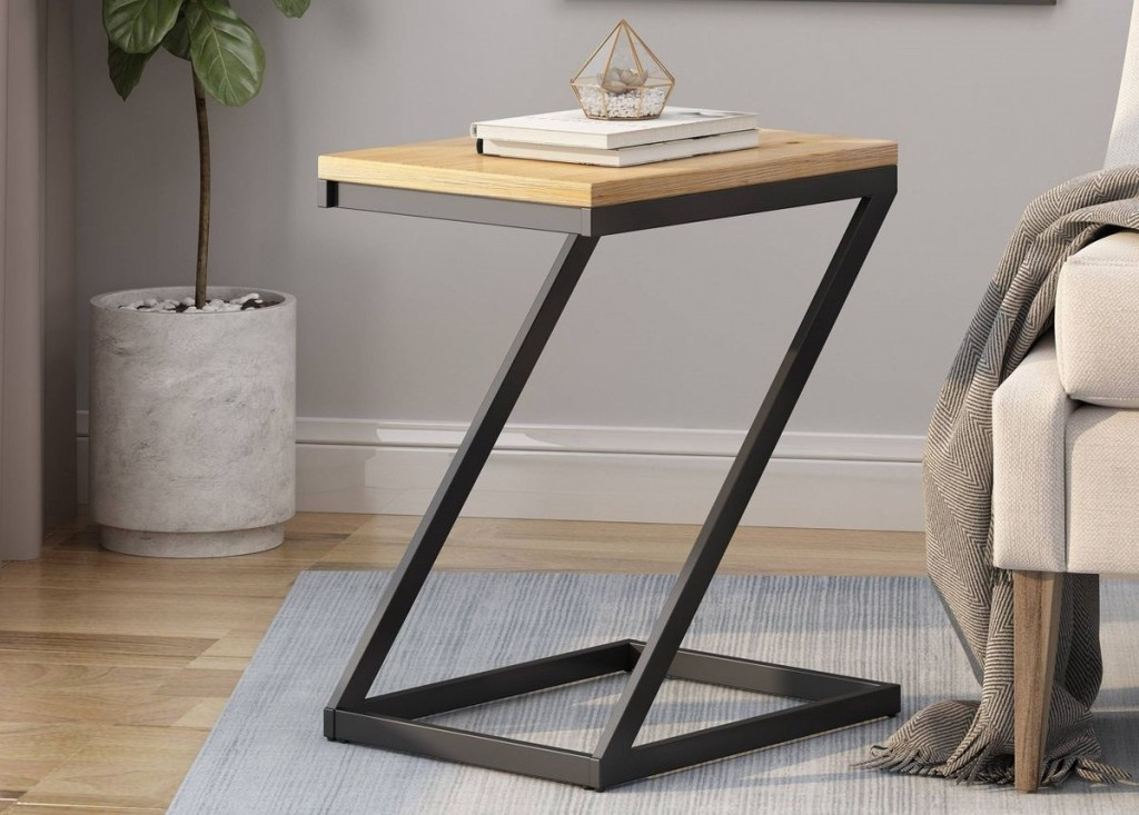 side table by a chair