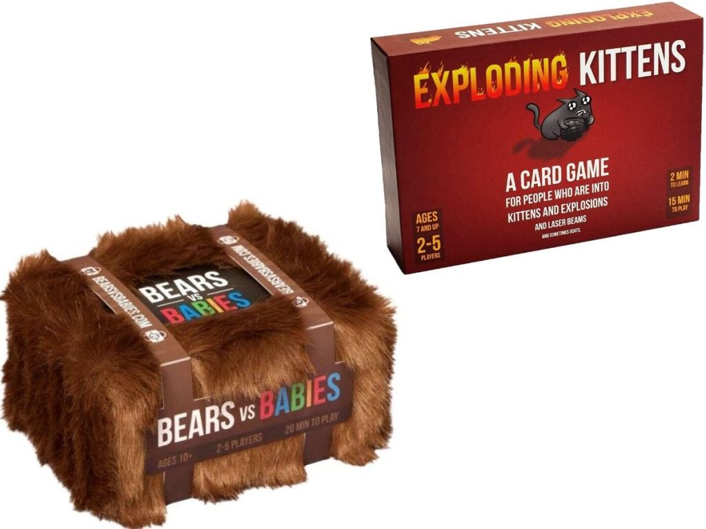 Bears vs Babies and Exploding Kittens Card Games