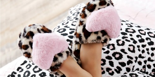 Betsey Johnson Fuzzy Slippers Only $13.99 Shipped (Regularly $36)