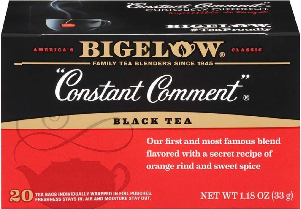 box of black tea bags