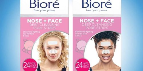 Bioré Nose + Face Deep Cleansing Pore Strips 24-Count Only $7 Shipped on Amazon (Regularly $15)