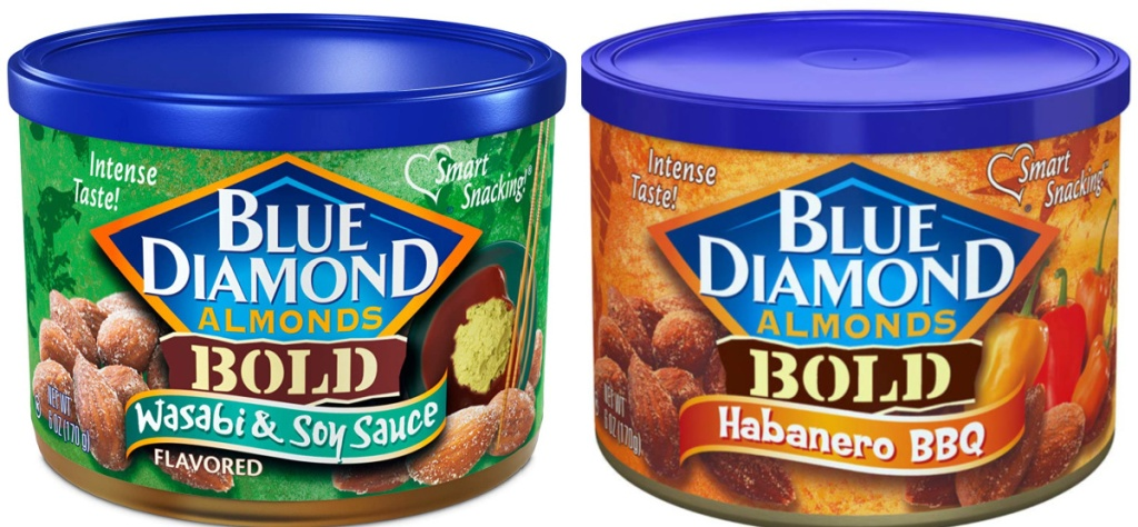 2 blue diamond almond cans