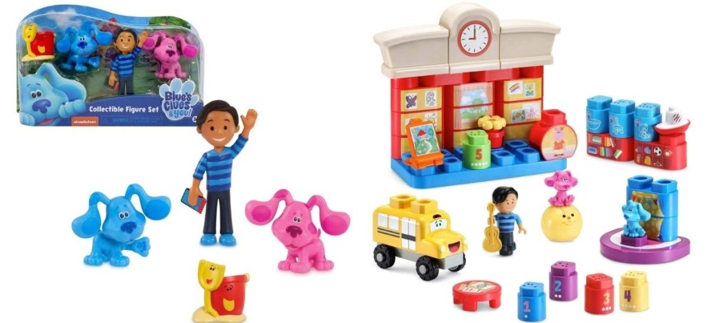 Blues clues toy figures and playset