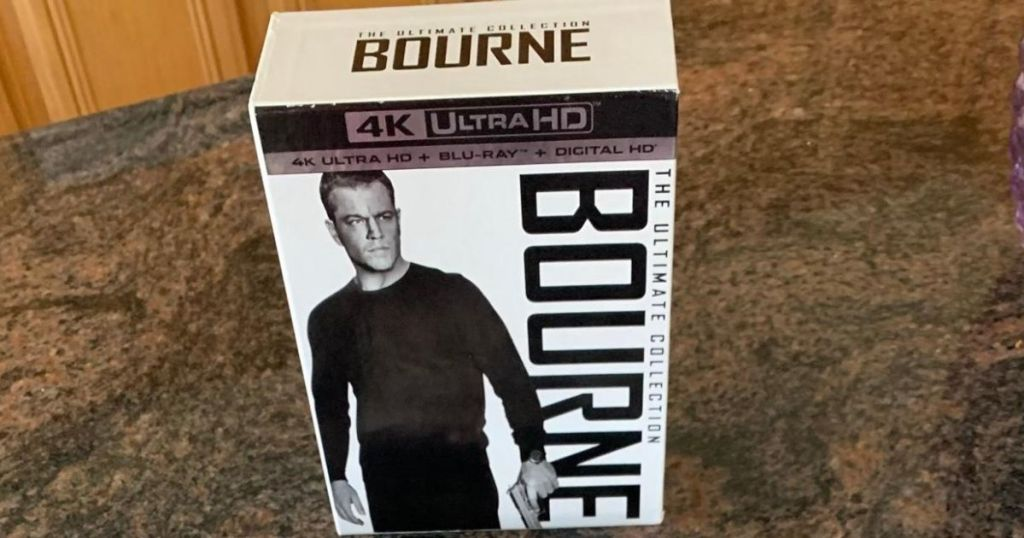Bourne Ultimate Collection boxed set on a table
