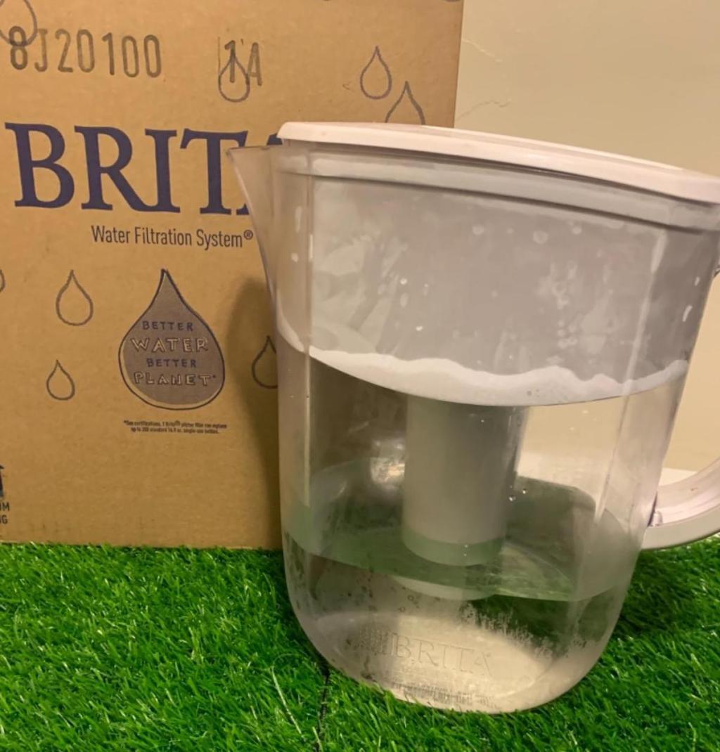Brita Filter Pitcher next to brita box