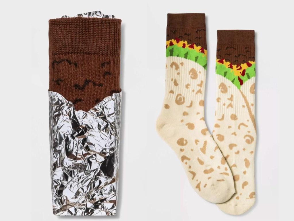 burrito printed socks