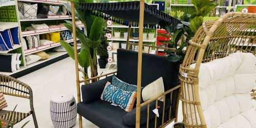 Turn Your Patio Into an Outdoor Oasis w/ This New Canopy Chair at Target