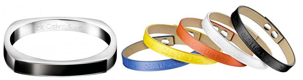 square shaped bracelet and 5 pack of leather snap-on bracelets