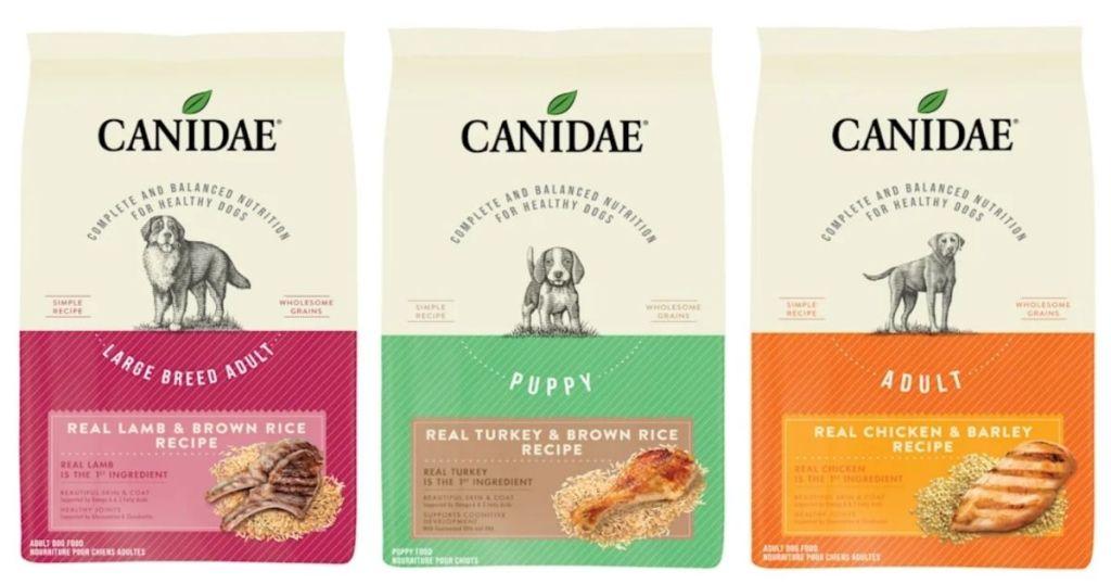 3 Canidae Dog Food Bags