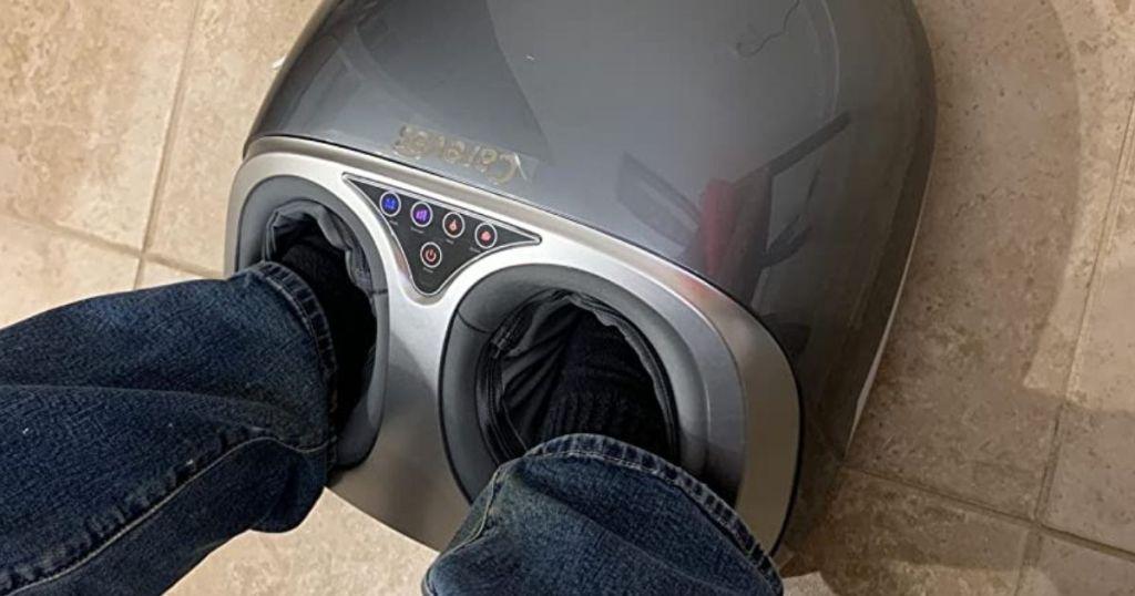 feet in a foot massager