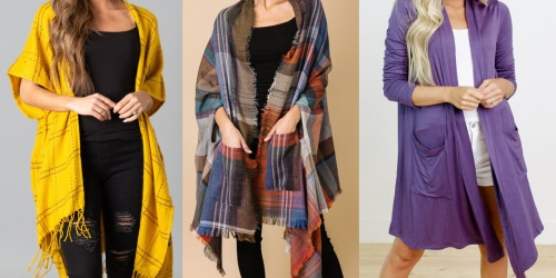 Women's Cardigans & Kimonos from $9.99 (Regularly $30+)   Includes Plus Sizes