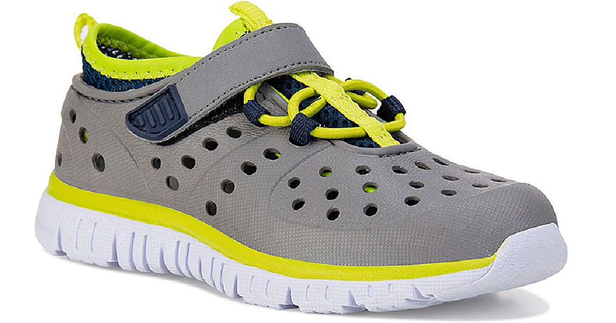 Kids shoe in gray and yellow