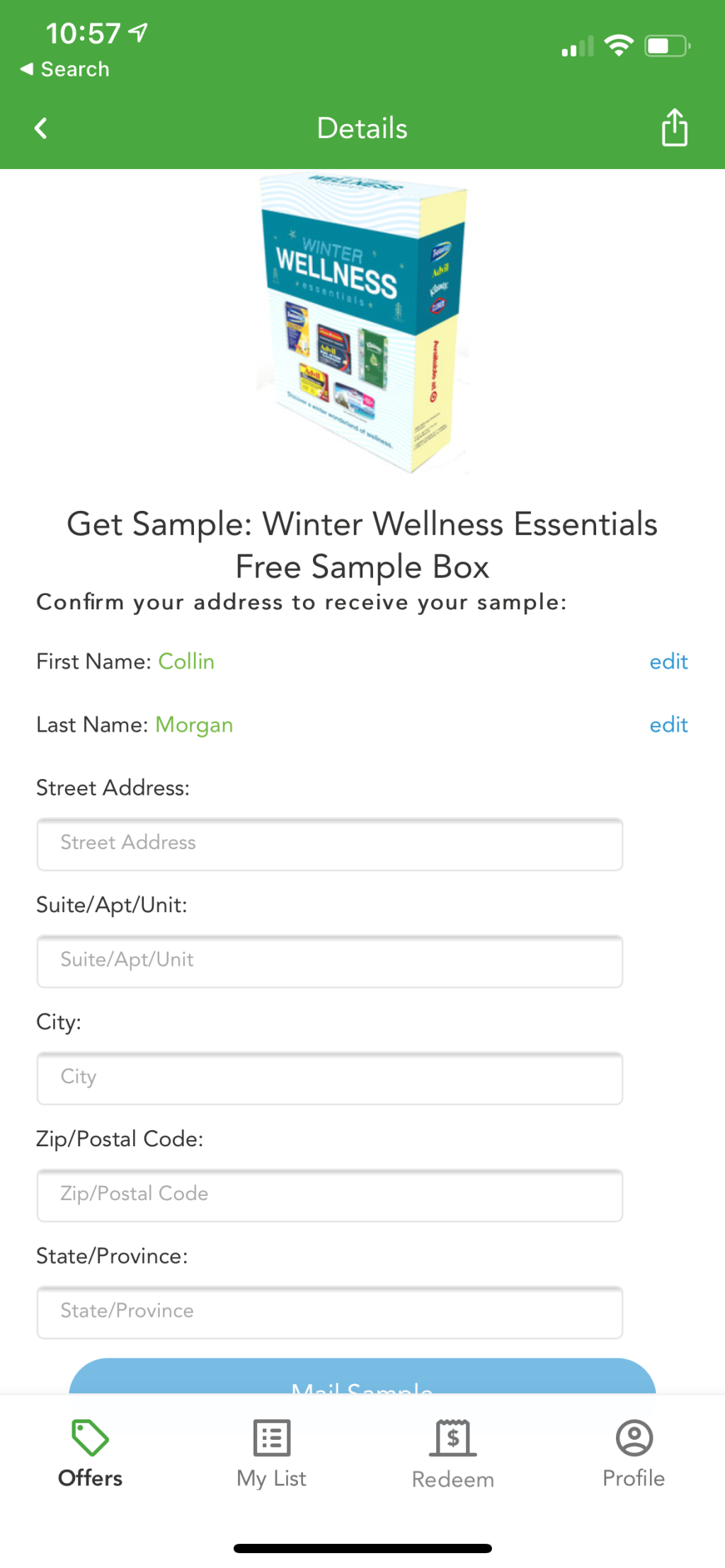 Checkout 51 screenshot of sample