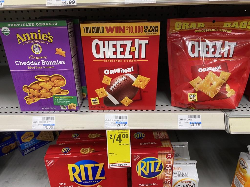 Cheez It on CVS Shelf