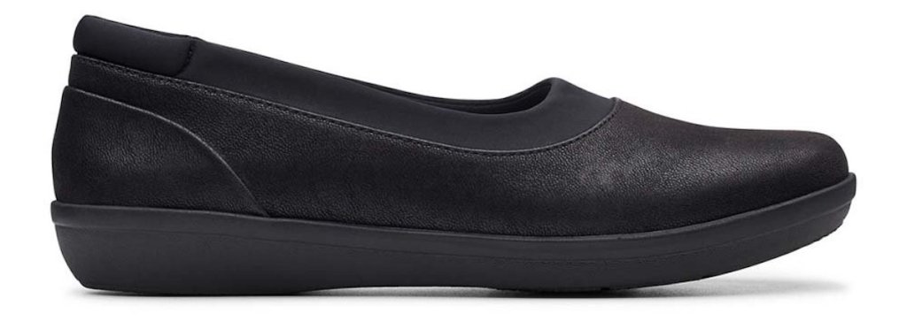 side view of Clark Black Ayla Pure Loafer