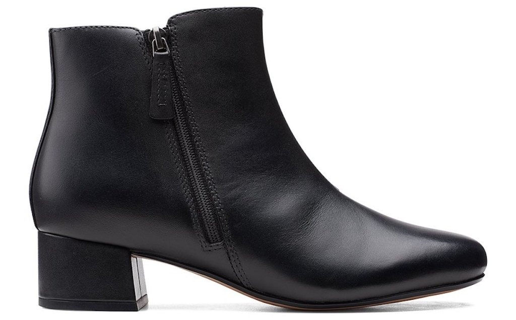 black pair of clarks womens boots